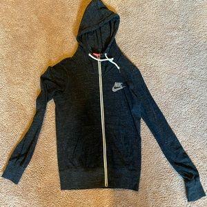 Nike light weight full zip sweatshirt